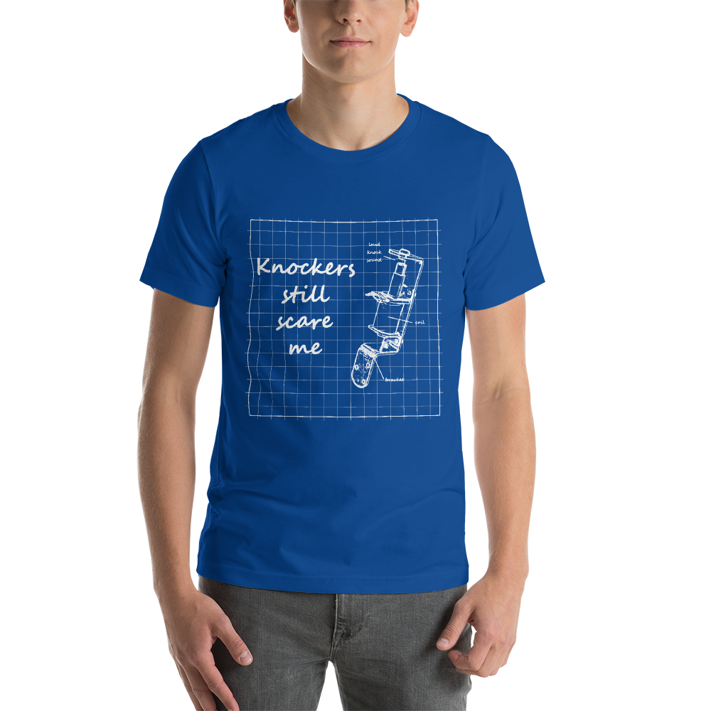 Knockers Still Scare Me - Super Soft Unisex T-Shirt - Silverball Swag