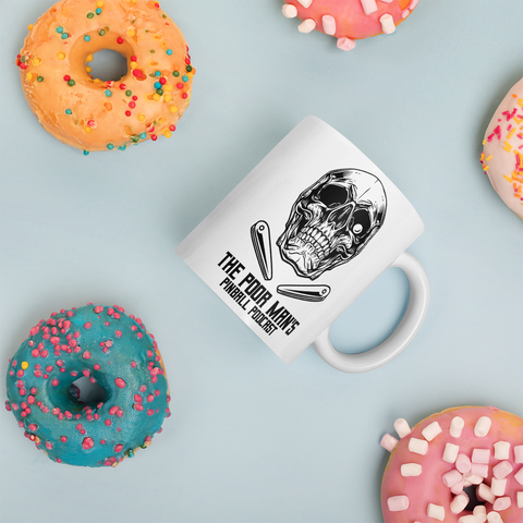 Poor Man's Pinball Podcast Skull and Flippers - Mug