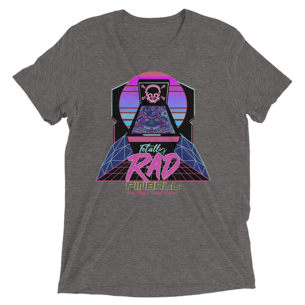 Poor Man's Pinball Podcast RAD - Premium Tri-blend T-shirt - Silverball Swag