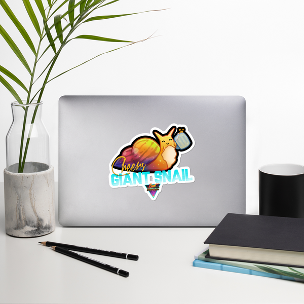 Cheers Giant Snail - Stickers