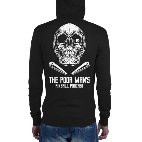 Poor Man's Pinball Podcast Skull and Flippers - Zip Hoodie