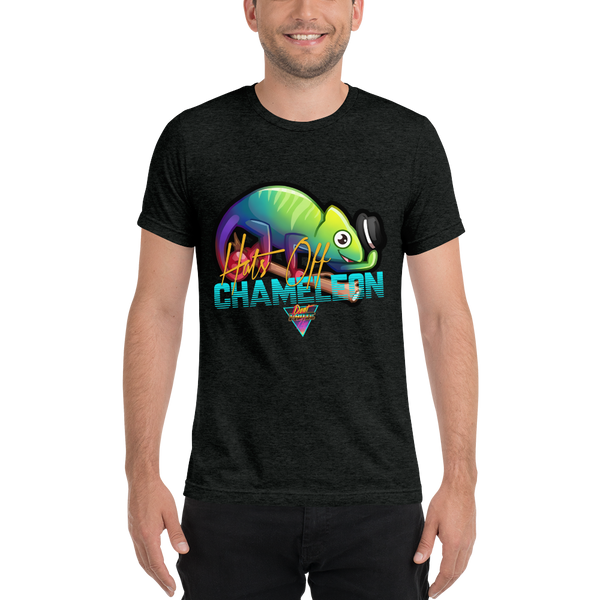 Hats Off Chameleon - Premium Tri-Blend T-Shirt - Silverball Swag