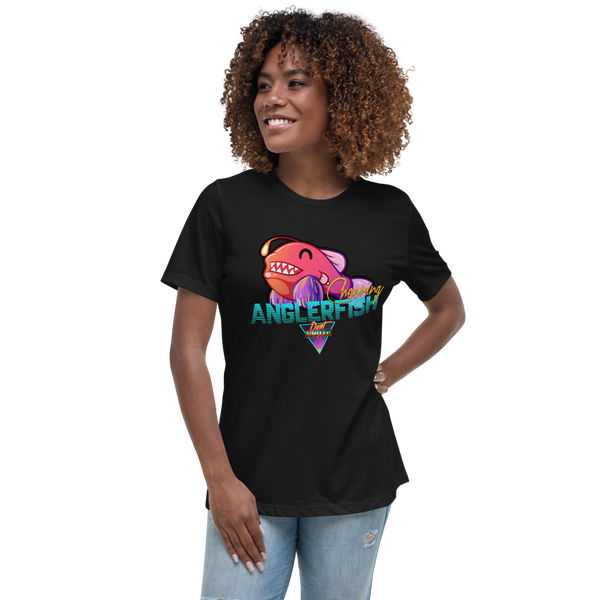 Cheering Angler Fish - Women's Relaxed T-Shirt - Silverball Swag