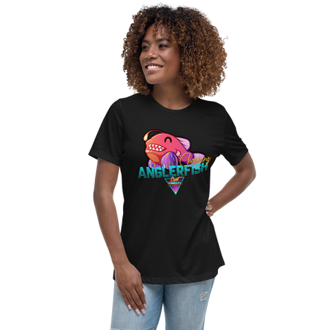 Cheering Angler Fish - Women's Relaxed T-Shirt
