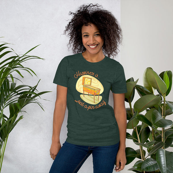 Happiness Is Just a Pin Away - Super Soft T-Shirt