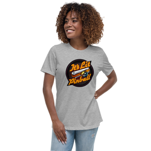 It's Lit Pinball - Women's Relaxed T-Shirt - Silverball Swag