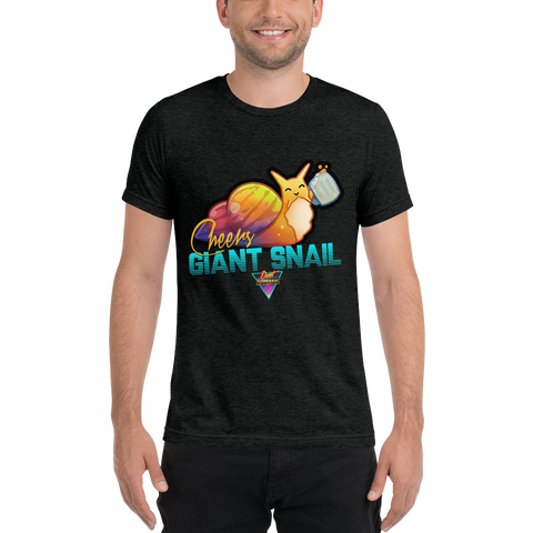Don't Panic Flip Cheers Snail - Premium Charcoal Black - Silverball Swag
