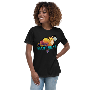 Cheers Giant Snail - Women's Relaxed T-Shirt - Silverball Swag