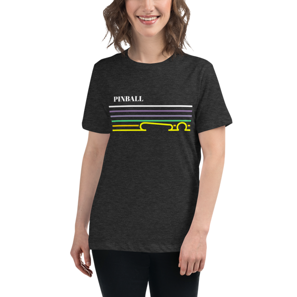 Pinball Lines - Women's Relaxed T-Shirt - Silverball Swag
