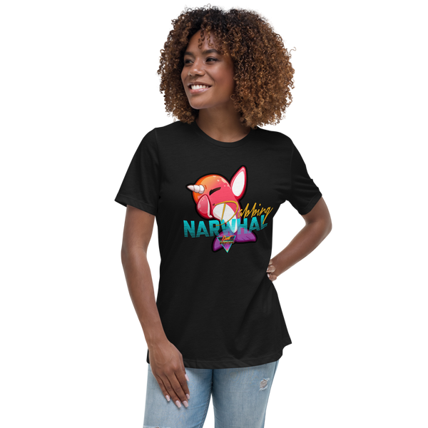 Dabbing Narwhal - Women's Relaxed T-Shirt - Silverball Swag