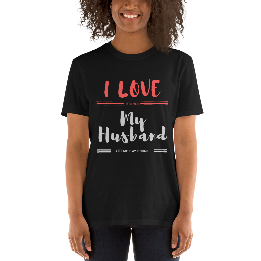I Love My Husband - Customizable T-Shirt - Silverball Swag