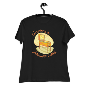 Happiness Is Just A Pin Away - Women's Relaxed T-Shirt - Silverball Swag