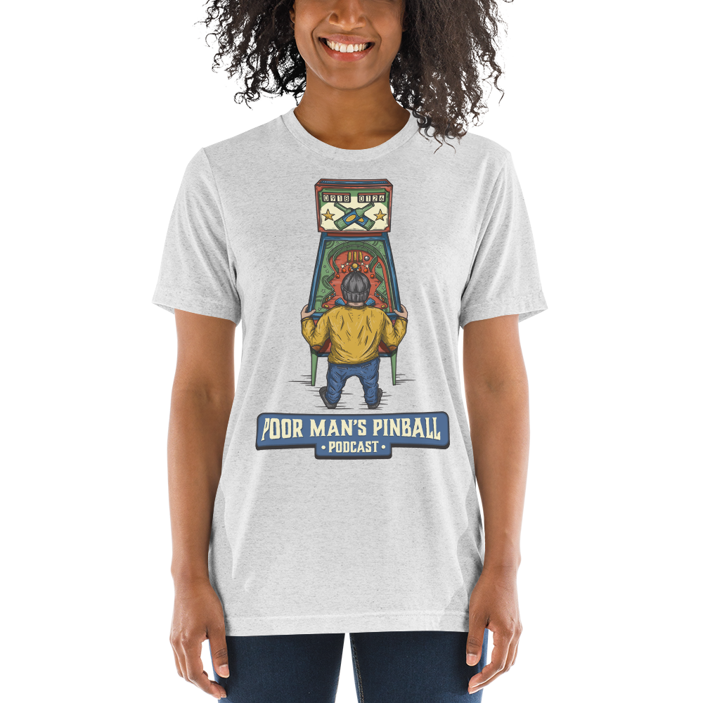 Poor Man's Pinball Podcast Retro - Premium Tri-blend T-shirt