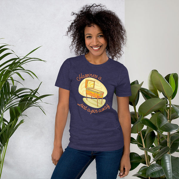 Happiness Is Just a Pin Away - Super Soft T-Shirt - Silverball Swag