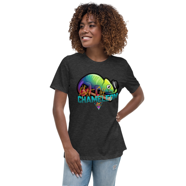 Hats Off Chameleon - Women's Relaxed T-Shirt - Silverball Swag