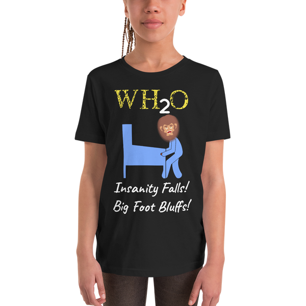WH2O w/ Big Foot - Customizable Youth T-Shirt - Silverball Swag