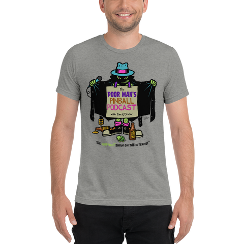 Poor Man's Pinball Podcast Franchi Design - Premium Tri-blend T-Shirt