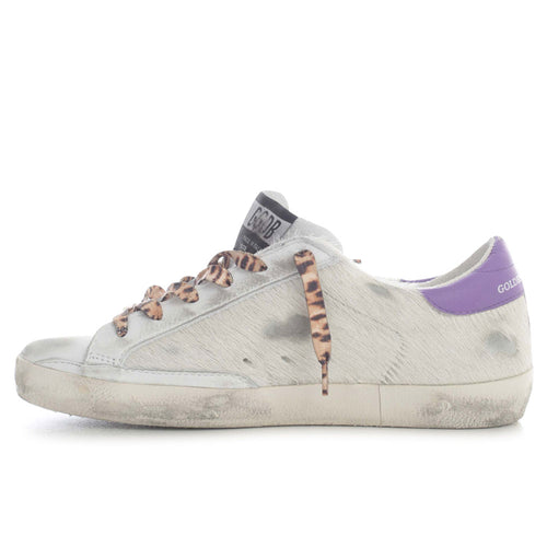 Golden Goose Deluxe Brand Superstar Horsy Upper Laminated Star Signature Foxing Womens Sneaker