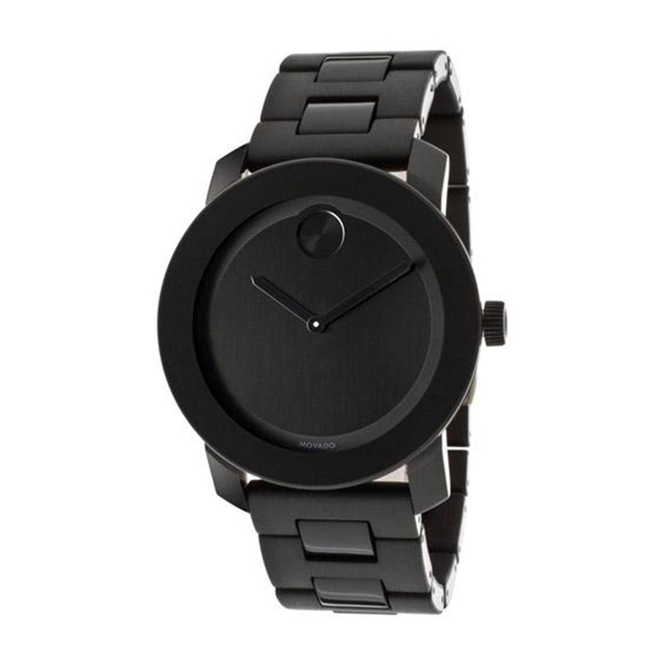 Movado Bold Black TR90 Composite Scratch Resistant Stainless Steel Men's Watch 3600047