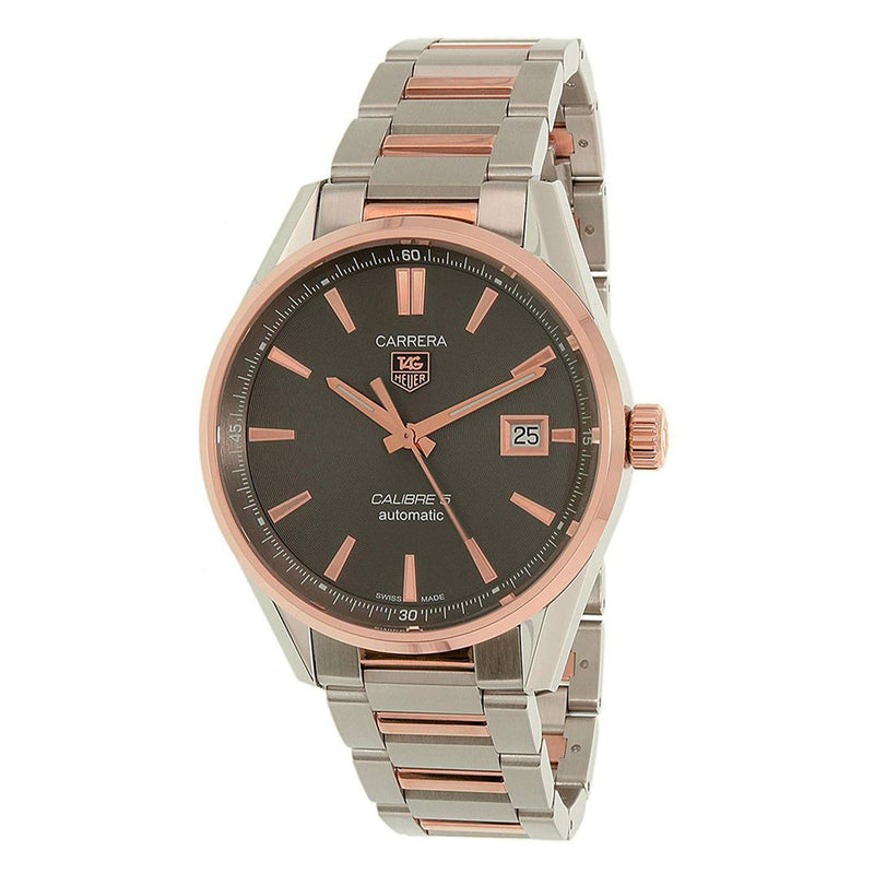 Tag Heuer Carrera Automatic Men's 39 mm Anthracite Dial Two-tone Watch WAR215E.BD0784