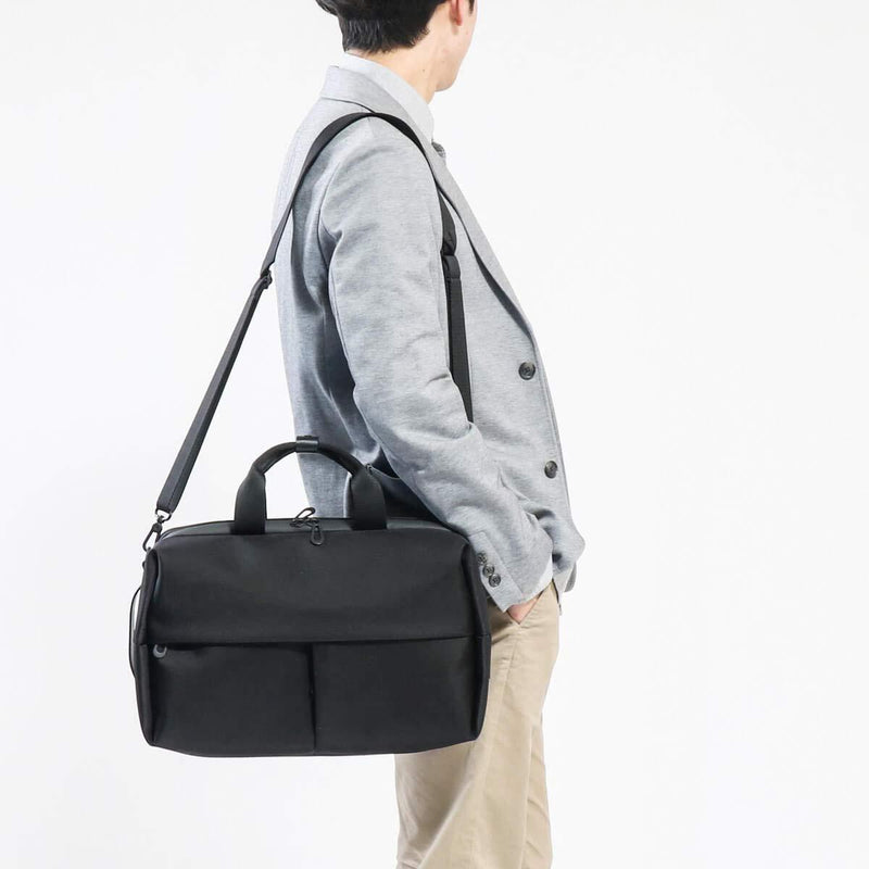 Cote & Ciel Men's Garonne Briefcase Backpack Top and Side Handles Black One Size 28774