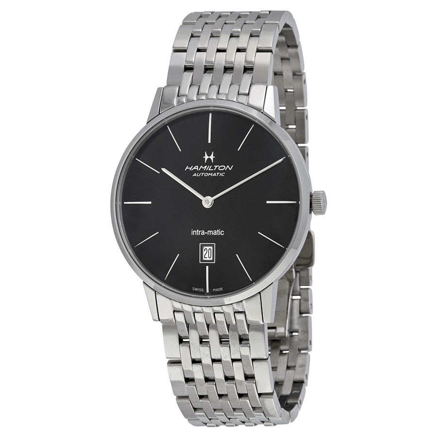 Hamilton Timeless Classic Intra-Matic Black Dial Stainless Steel Men's Watch H38755131