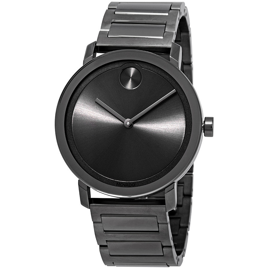 Movado Bold 40 mm Gunmetal Dial and Ion-plated Men's Watch Water Resistant 3600509