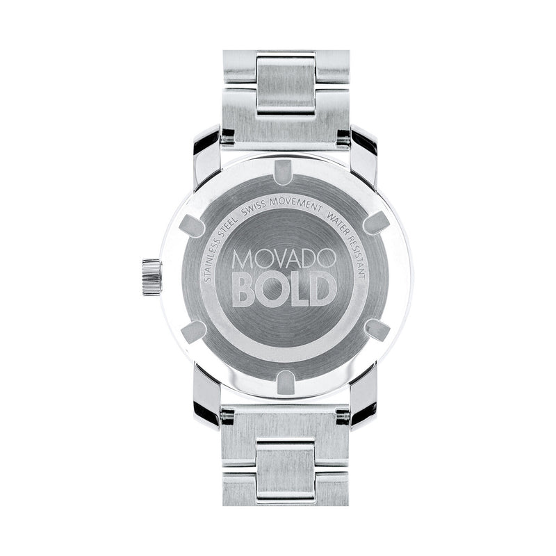 Movado Bold 36 mm Silver Dial with Silver-tone Hands Stainless Steel Ladies Watch 3600334
