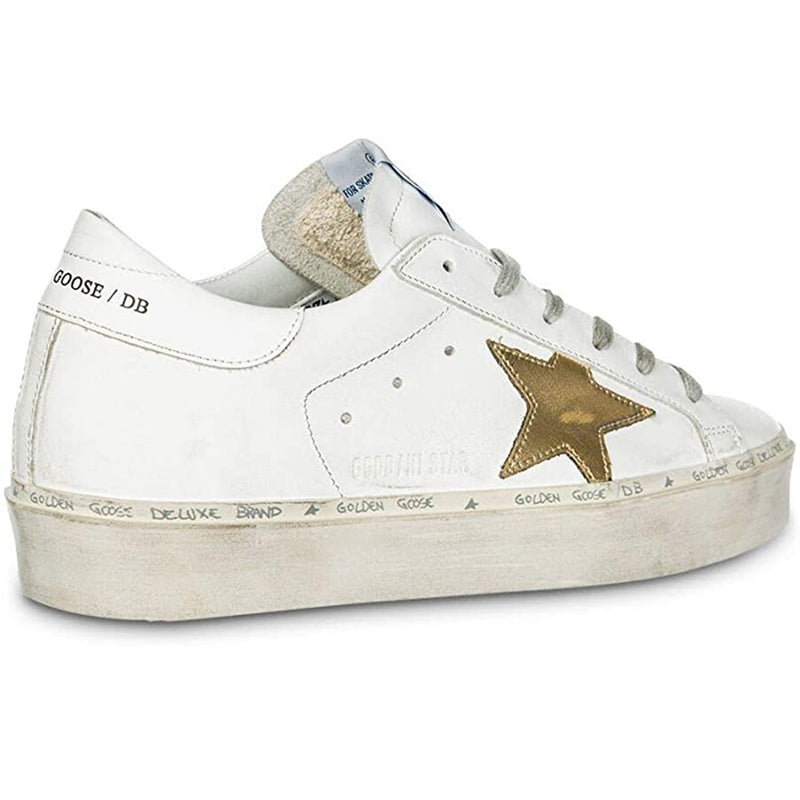 Golden Goose Hi-Star White/Gold Star Women's Sneaker G34WS945.A7