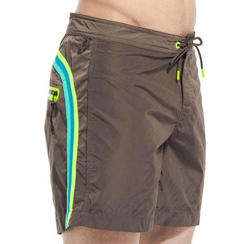 Sundek Long Board Shorts Fixed Waistband Welded Zip Pocket POLYAMIDE M542BDM0600