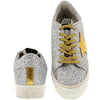 Golden Goose May Ladies Sneakers Leather Rubber Sole Ash Glitter G30WS127F.F1