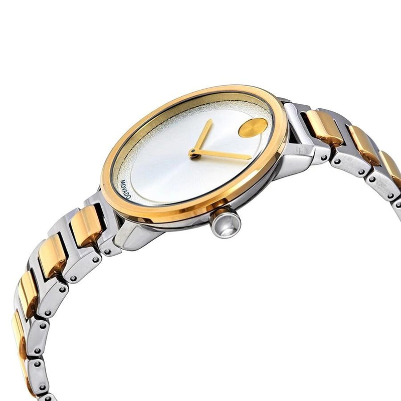Movado Bold 34 mm Silver Dial Two Tone Stainless Steel Bracelet Ladies Watch 3600519