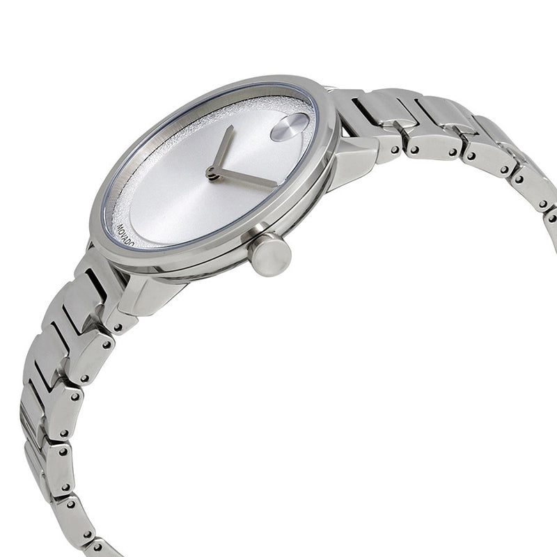 Movado Bold Silver Metallic Dial Stainless Steel Water Resistant Ladies Watch 3600501