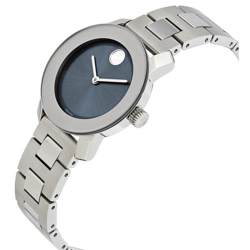 Movado Bold Blue Dial silver-tone Stainless Steel Water Resistant Ladies Watch 3600436