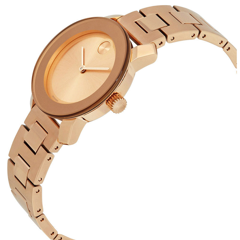 Movado Bold Rose Gold Ion-plated Stainless Steel Water Resistant Dial Ladies Watch 3600435