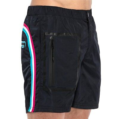 Sundek Men's Long Boardshorts Elastic Waist Welded Zip Pocket M561BDM0600-271-L