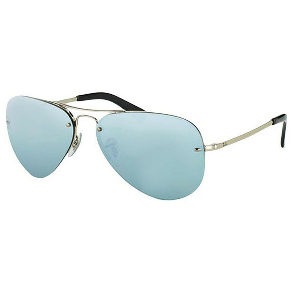 Ray Ban Aviator Unisex Sunglasses 59 mm Silver Lens Metal Frame RB344900330