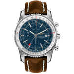Breitling Navitimer World Chronograph Mens Watch with stainless steel case A2432212/C651/443X