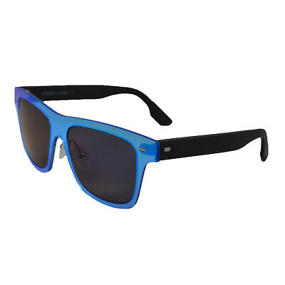 Alexander McQueen Unisex Plastic Frame 54 16 Sunglasses in Blue Crystal MQ0008S oo3