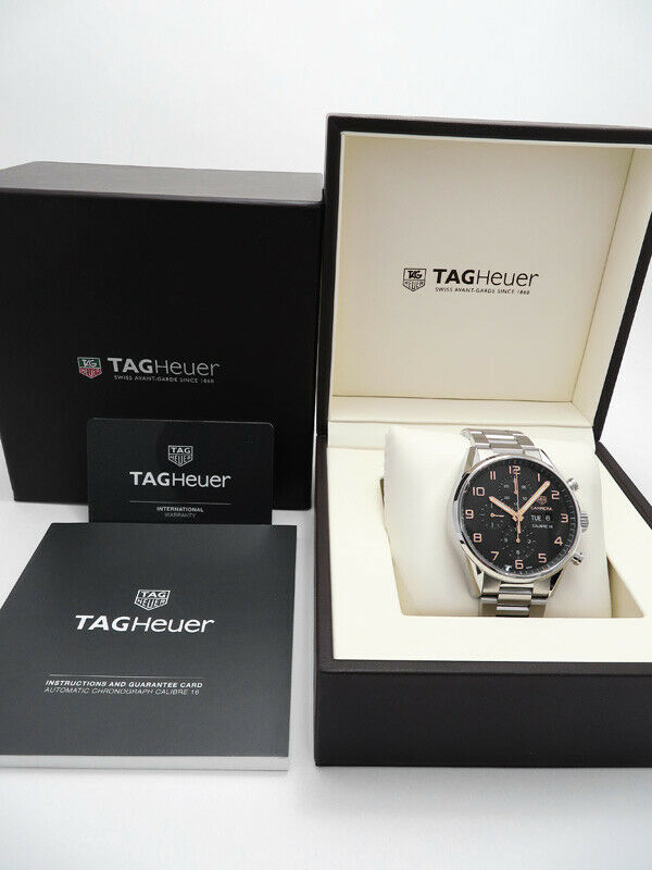 Tag Heuer Carrera Calibre 16 Automatic Chronograph 43 mm Black Dial Watch CV2A1AB.BA0738