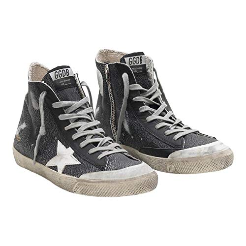 Golden Goose Francy Round Toe Textile lining Mens Sneakers - Black G34MS591.B67