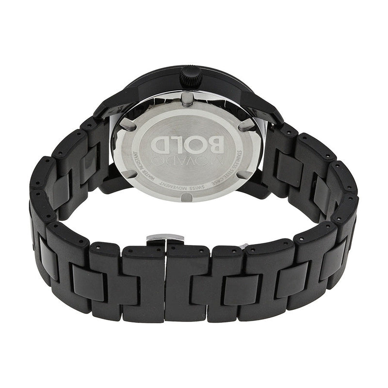 Movado Bold Black Dial TR90 Ion-plated Water resistant Polyurethane Men's Watch 3600099