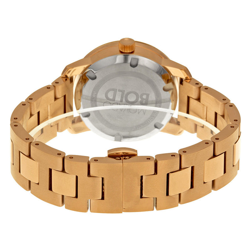 Movado Bold Rose Gold-Tone Stainless Steel Crystal-Set Water Resistant Ladies Watch 3600086