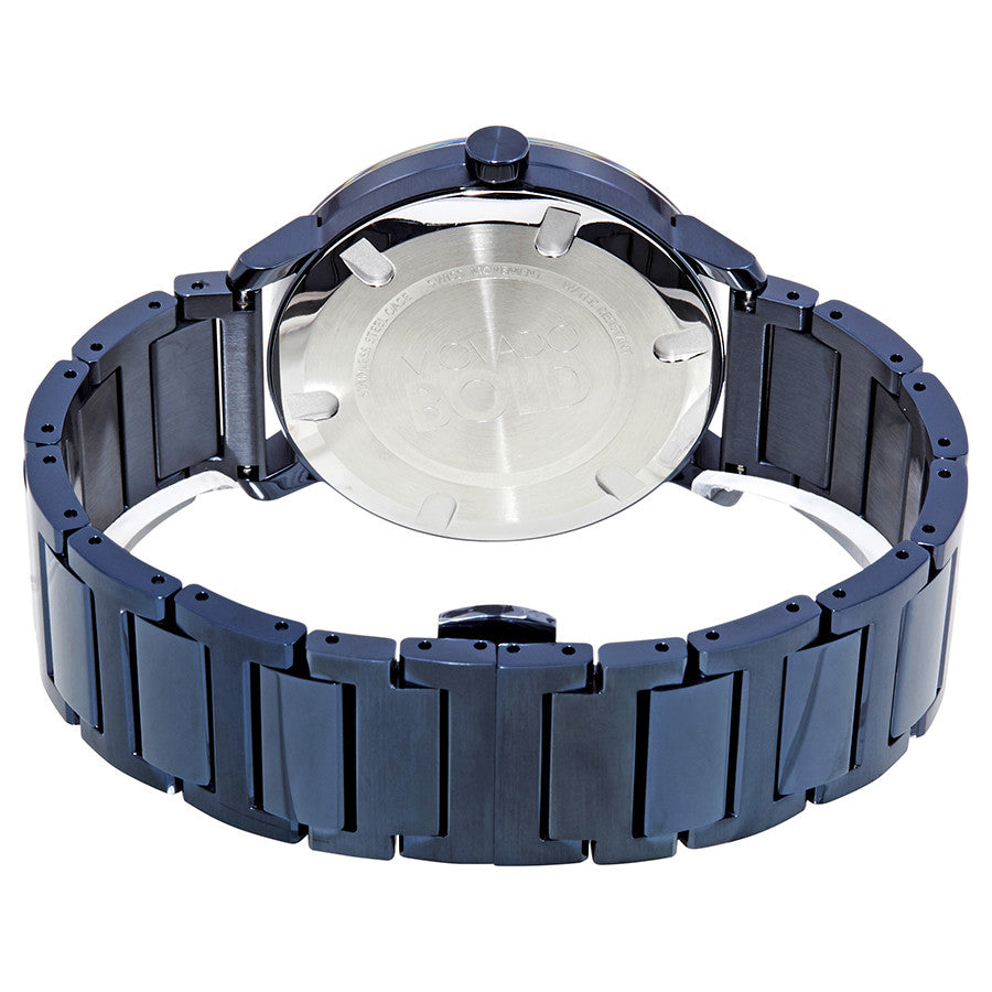 Movado Bold Blue Dial Blue Ion-Plated Stainless Steel Water Resistant Men's Watch 3600510