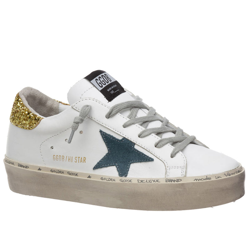 Golden Goose Deluxe Brand HI Star White Womens Sneakers G36WS945.N2
