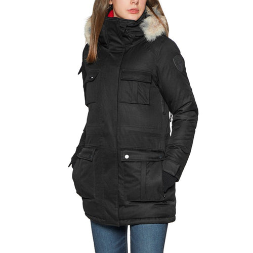 Nobis Cindy Polyester Ladies Parka Crosshatch Magnetic Closures Windproof Waterproof CINDY-C