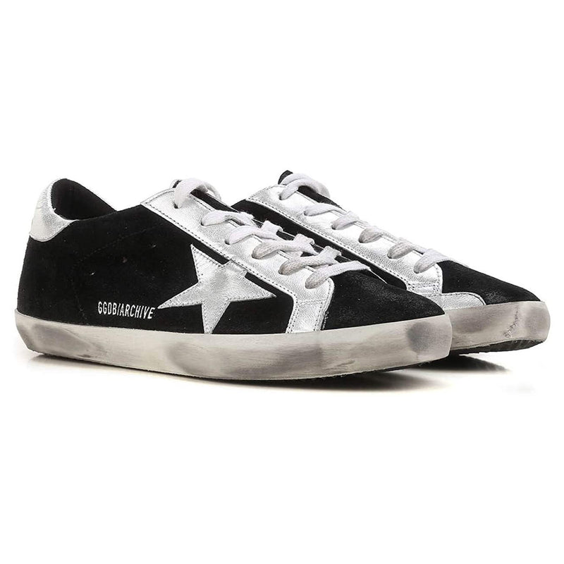 Golden Goose Deluxe Brand Superstar Ladies Black-Silver Sneakers G.ARWS590E54