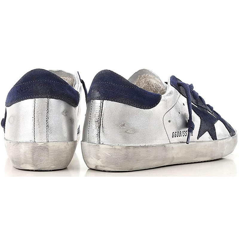 Golden Goose Deluxe Brand Superstar Silver Leather Women Fashion Sneakers G33WS590H.H51