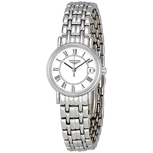Longines Presence Ladies Watch Stainless Steel Quartz Date display White L48194116