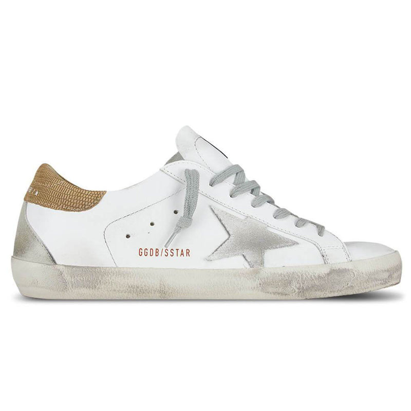 Golden Goose Deluxe Brand Superstar White Leather Mens Sneaker G36MS590.S78